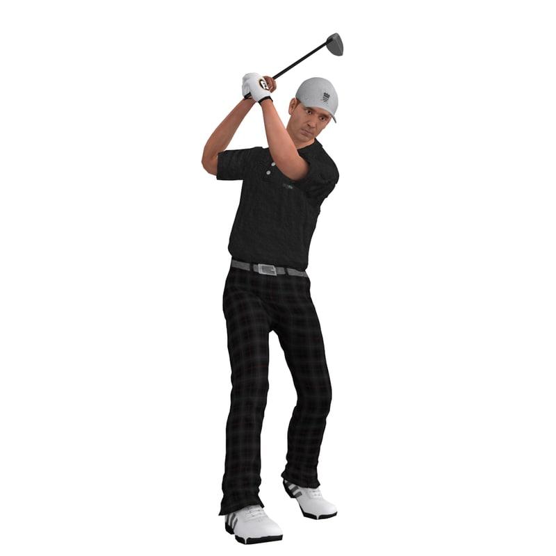 max rigged golfer