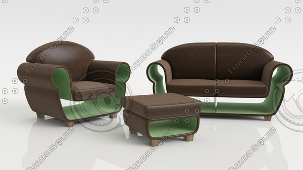 free concept furniture set 3d model