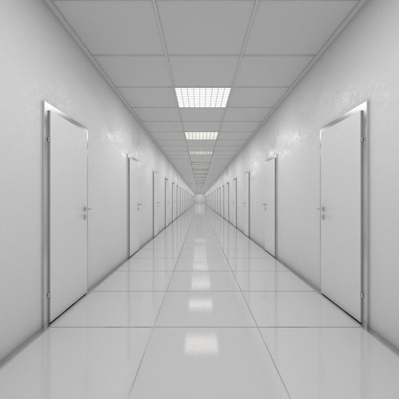 hallway doors 3d model