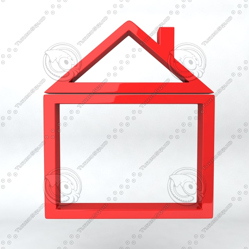 icon frame 3d model
