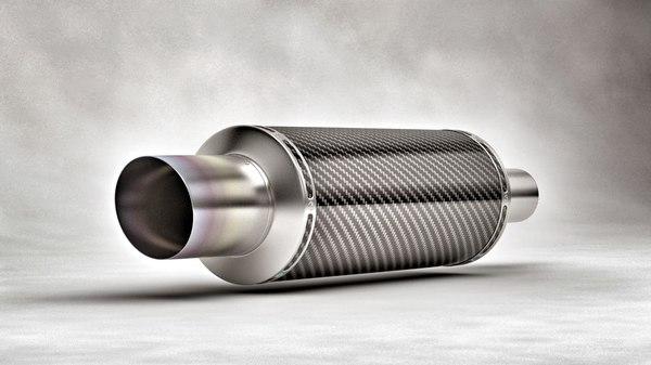 exhaust carbon 3d model