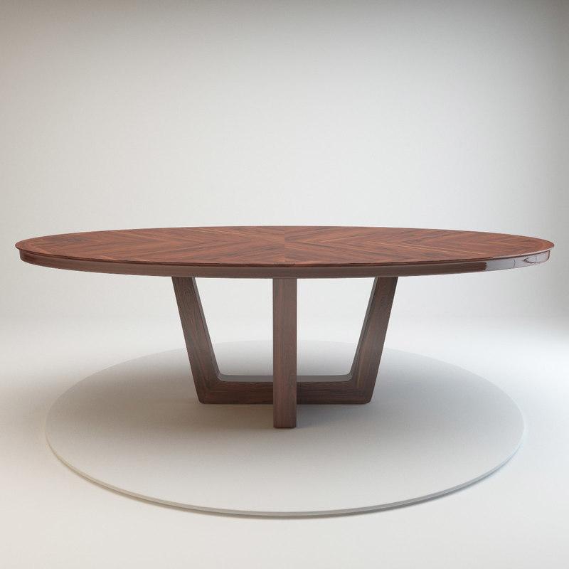 3d tribeca table mobilidea