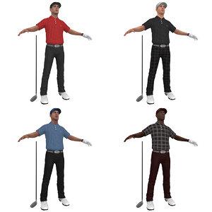 golfer player hat obj