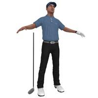 golfer 3 3d model