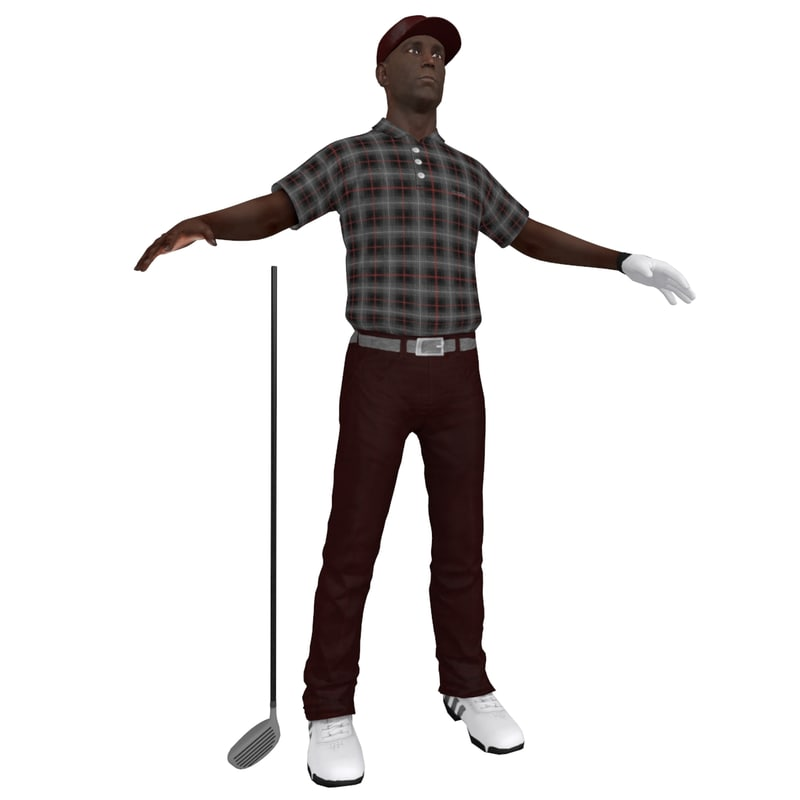 3d golfer player hat