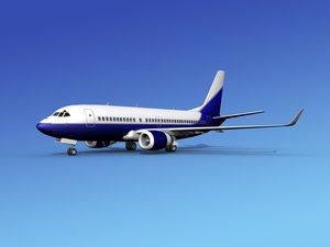 3d max boeing 737-700 737 737-700er