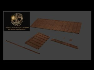 roof ancient rome 3d 3ds