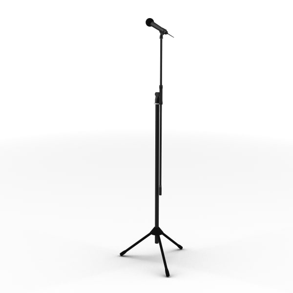 3ds max wireless microphone stand