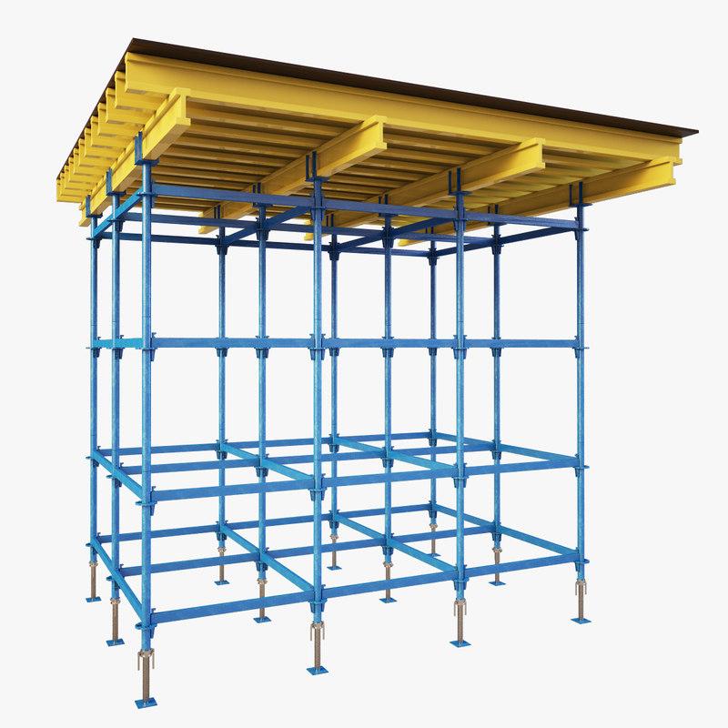 falsework building 3d max