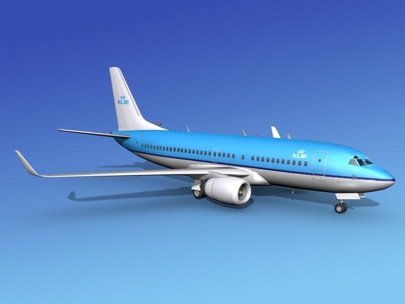 3d model boeing 737-700 737 737-700er