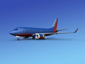 3d model of boeing 737-700 737 airlines