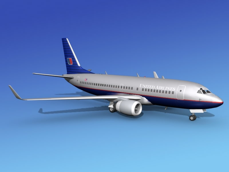 boeing 737-700 737 airlines 3d max