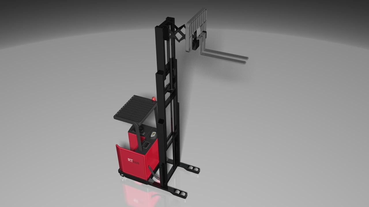 reach truck extension 3d model