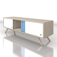 wood cabinet - strauss 3d max