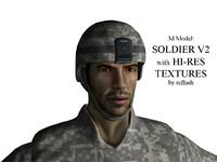 3d model soldier ready