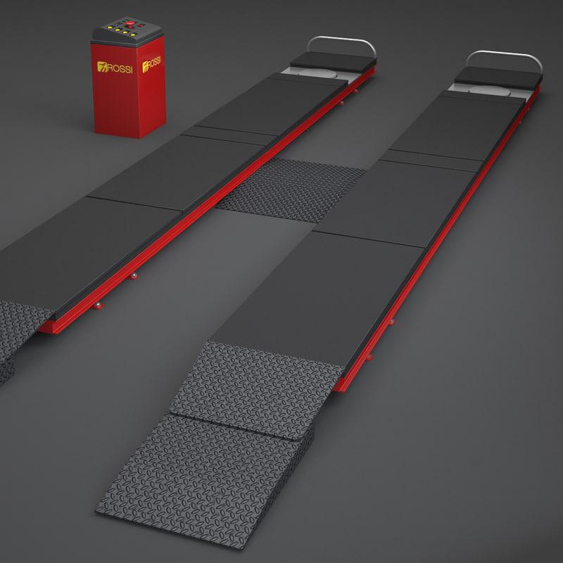 3ds max car service elevator