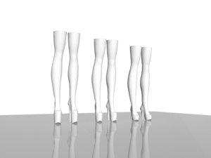 long boots 3d model