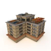 upscale apartment building obj