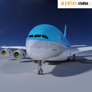 a380 korean air 3d obj