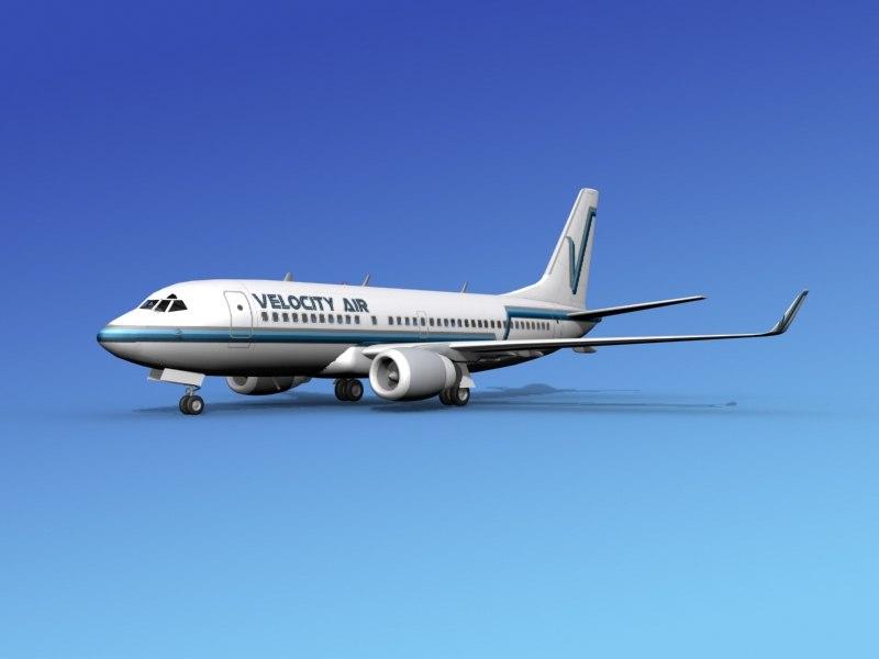 3d boeing 737-700 737 737-700er model