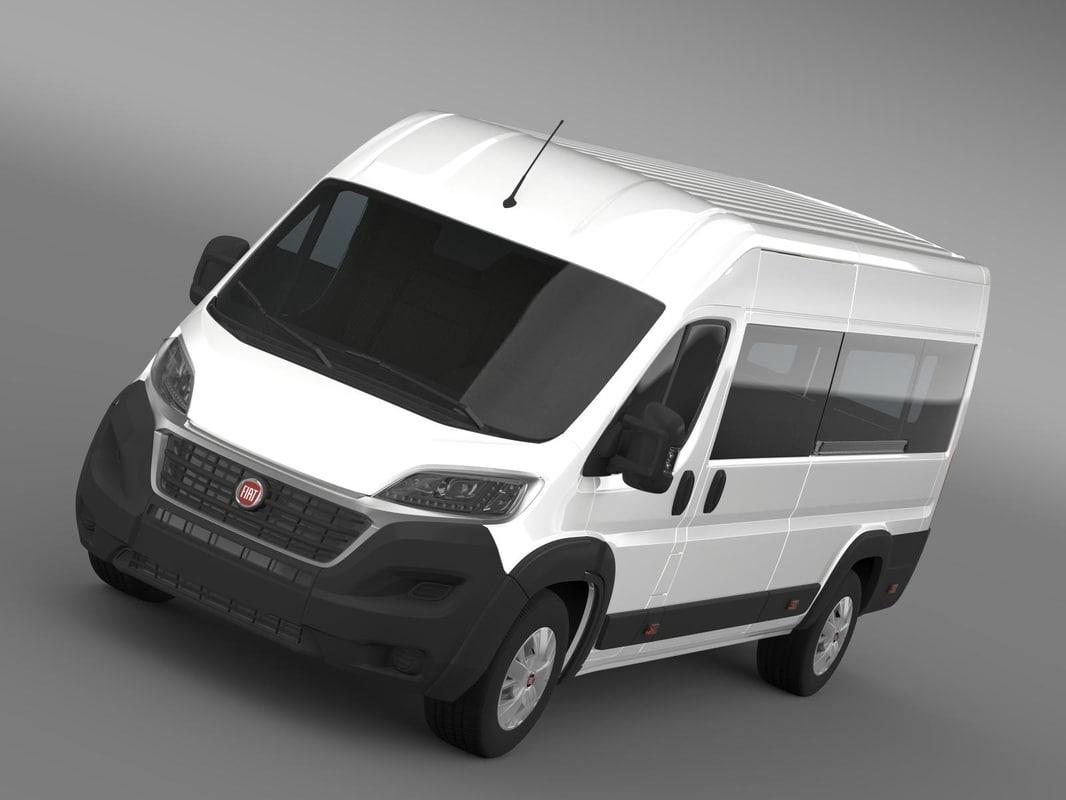 fiat ducato maxi minibus 3d 3ds. Black Bedroom Furniture Sets. Home Design Ideas