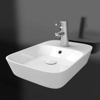 3d wash basin