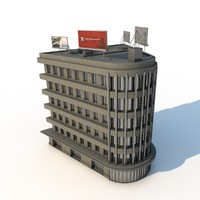 3ds max curve office building