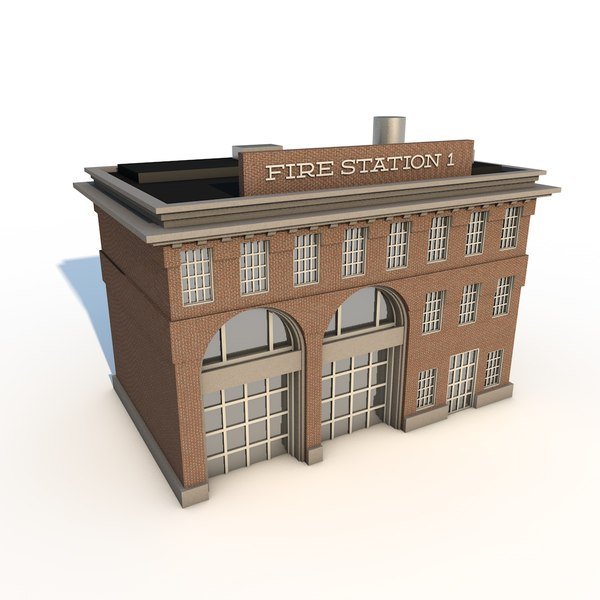 3ds max station building city