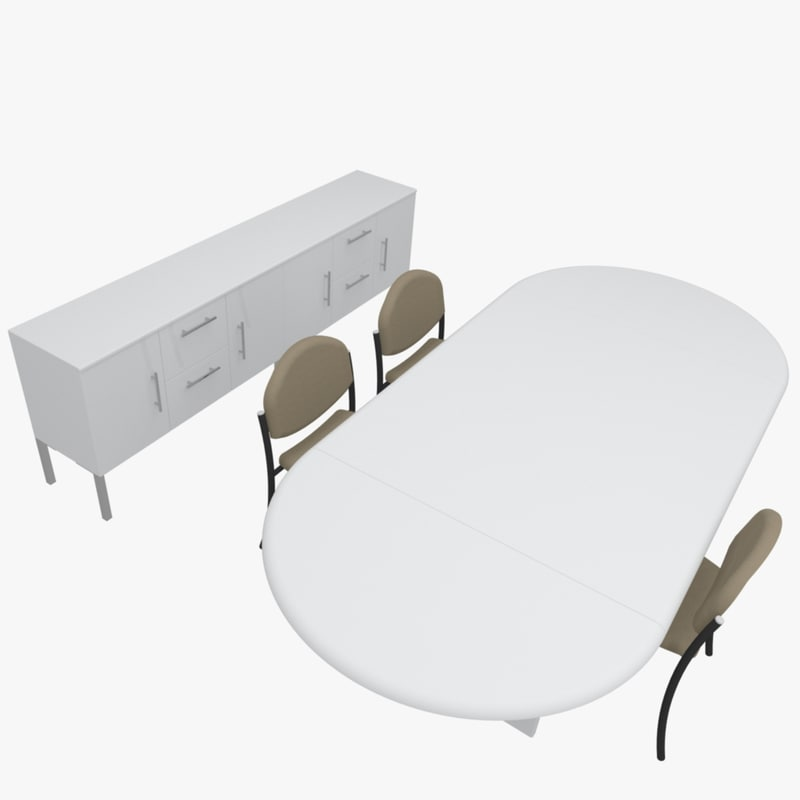3d model case office table