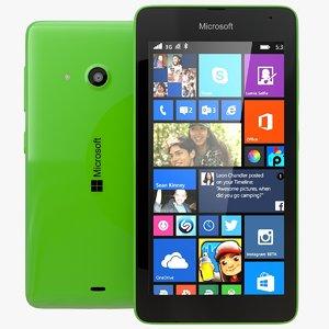 3d microsoft lumia 535 dual