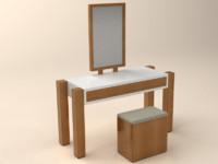 3d makeup table