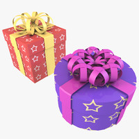 gift box christmas presentation 3d model