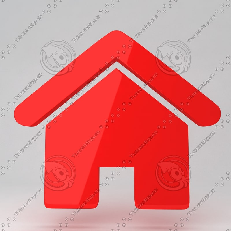 3d icon house model