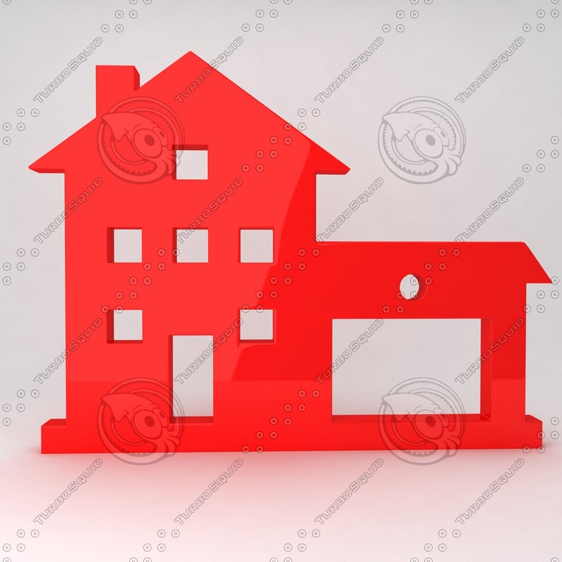 3d icon house