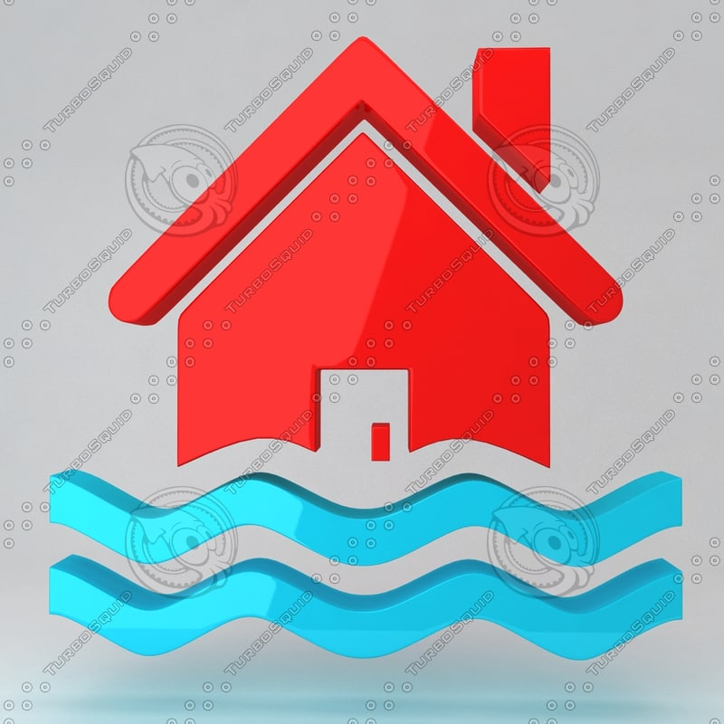 3d model icon house
