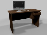 3d model office desk
