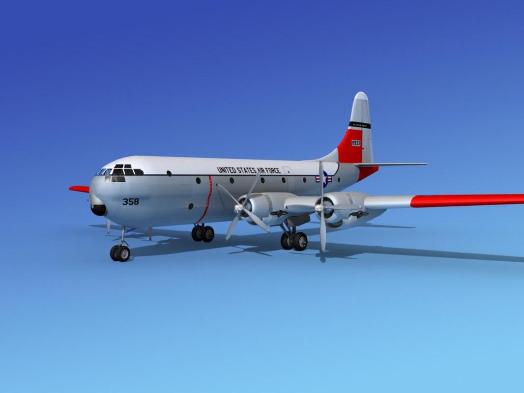c-97 boeing stratofreighter 3d max