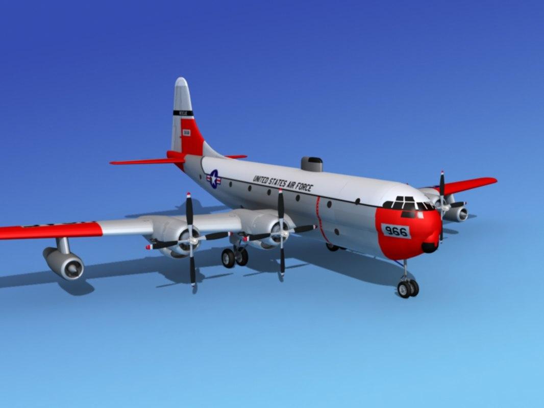 3d c-97 boeing stratofreighter model