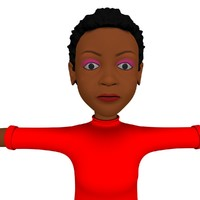 3d model cartoon character