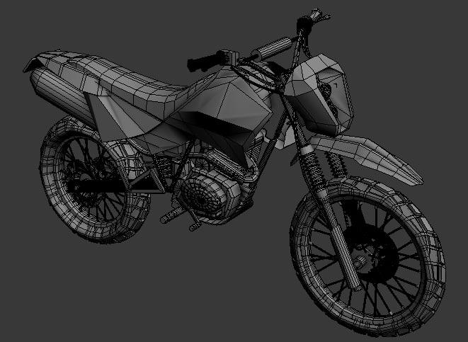 motocross toon shader 3d model