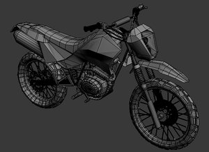 motocross toon shader 3d model
