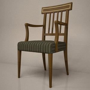 stickback chair 3d max