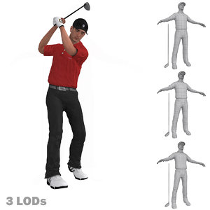 max rigged golfer lods s