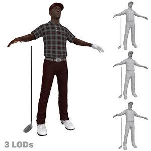3d golfer lods model