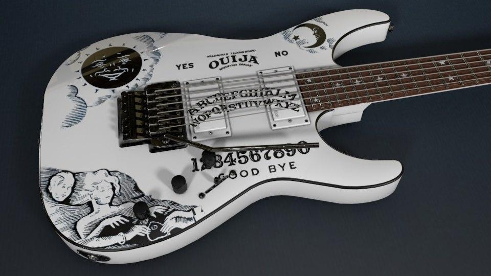 3d model metallica kirk hammett ouija