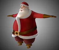 3ds max father christmas santa