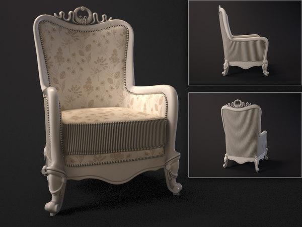 carpenter armchair 3d max