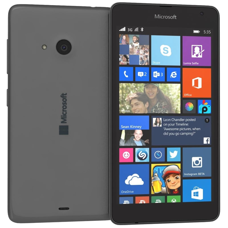 3d microsoft lumia 535 gray model