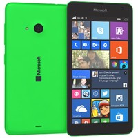 3d model microsoft lumia 535 green