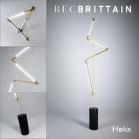 max bec brittain helix floor lamp